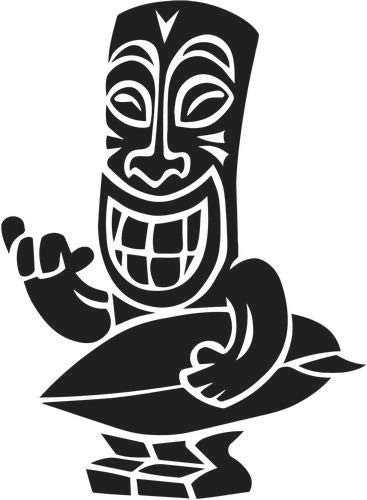 Pegatina Promotion Maori Figur Tiki 20 cm Aufkleber Sticker Autoaufkleber Wandtattoo Surf Kite Surfen Wassersport Fun Sea