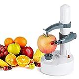 N / A Pelapatate Rotante Regolabile Completamente Automatico e Senza Sforzo, pelapatate Elettrico Multifunzione con 2 Lame Extra, per Frutta e Verdura