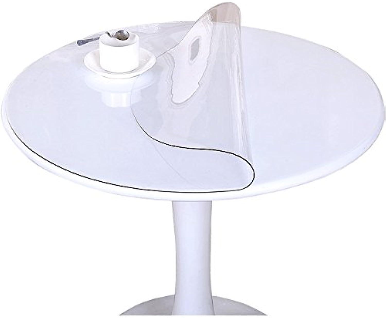 Tischdecken Weiches Glas-runde PVC-Kristallplatten-Material-transparenter wasserdichter Umweltschutz-einfach, zum von 1.0mm zu subern (gre   100cm)