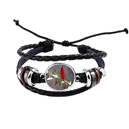 Cardinal Jewelry Vogel Armreif tragbar Kunst Vogel Armreif Charm Vogel Kardinal Armband Winter Kardinal Armband Winter Vogel Schmuck N180