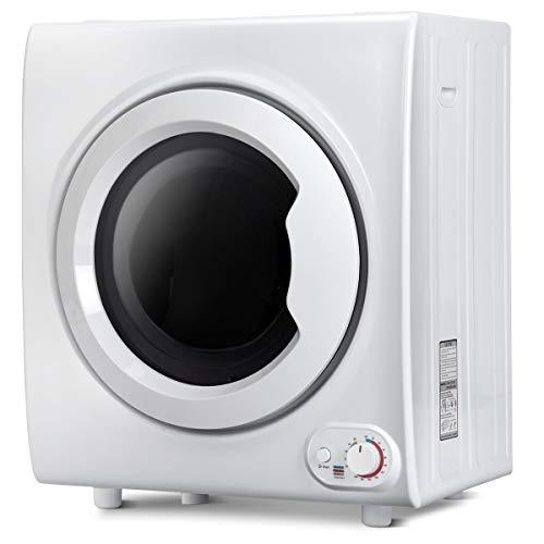 DREAMADE Multifunktionaler Wäschetrockner Trockner, Ablufttrockner Wärmer Dryer Trommeltrockner, Edelstahltrommel/Heiß- & Kühle- Lufttrocknung/4KG/220V-240V, 50Hz/1400W, Milchweiß