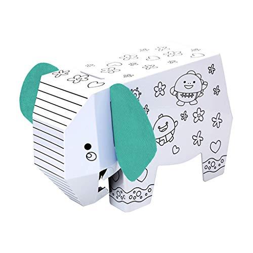 Hellery 3D Lion Model Paper Folding Handgemalte Frühe Lernspielzeug Für Kinder - Elefant