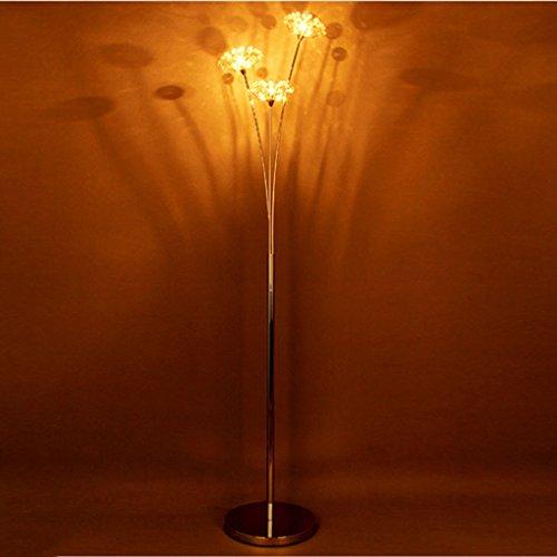 Vloerlamp LED vaas vloerlamp, modern elegant zilver aluminium metalen design - voor de woonkamer, LED (kleur: warm licht)