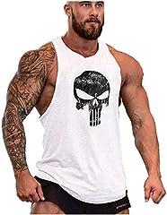Camisetas de Tirantes Entrenamiento Fitness Gimnasio Chaleco Músculo Fit para Hombre