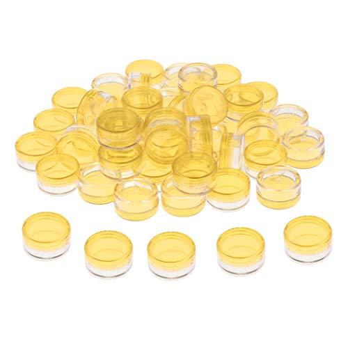 50pcs 5g Pots Cosmétiques Cosmetic Container Vide Rond en Plastique Contenant Stockage Baumes à Lèvres, Crèmes, Poudre Acrylique Nail Art - Violet