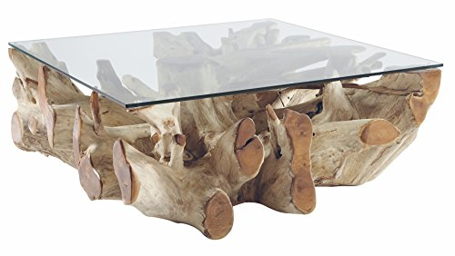 Now's Home salontafel, teak, natuur, 100 x 100 x 40 cm