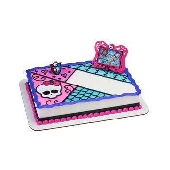Stupendous Amazon Com Monster High Frame And Skullette Decoset Cake Personalised Birthday Cards Beptaeletsinfo