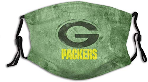 Team Green Bay Pa&ckers men/women Dust-Proof Polyester face Mask Washable Reusable Adjustable Ear Loops