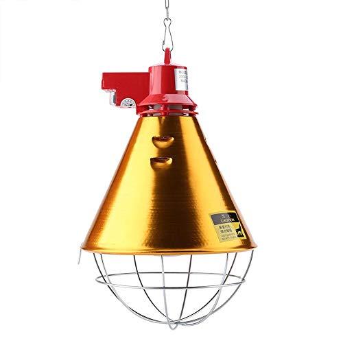 Incubators verwarmings- en gloeilamp, kubusvormig, lampenkap, warmwit, voor gevogelte, met ketting, infrarood, voor chicks, Maio, EU 230 V
