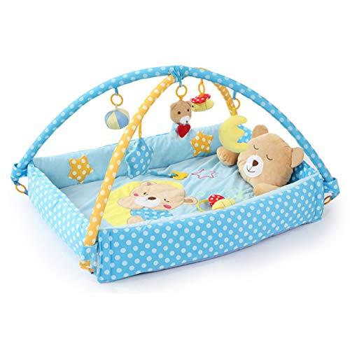 ZoSiP Alfombras de Juego y Gimnasios Piso Bebé Rosa y Azul Dos Juego Manta Juego Matero Bebé Graneamiento Manta Crawning Mat Soporte Fitness Rack Baby Toys Juguetes Educativos para Niños pequeños