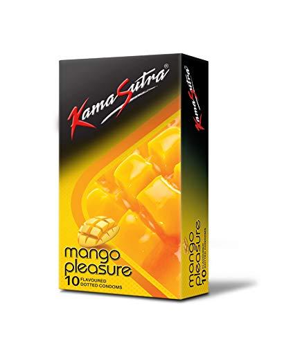KamaSutra Mango Pleasure Flavoured Condoms Pack of 10, clear