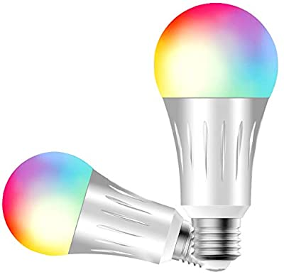 Bulb ESICOO, Bulb Smart Light Wi-Fi LED Bulb Compatible with Alexa Google Home IFTTT, Dimmable 60W Equivalent Lamp Bulb RGBW
