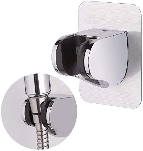 BETOY Handbrause Halterung Verstellbar Brausehalter Ohne Bohren Kleber Winkel,Duschhalterung für Handbrause oder Duschkopf, ABS poliertes Chrom(2 pcs)