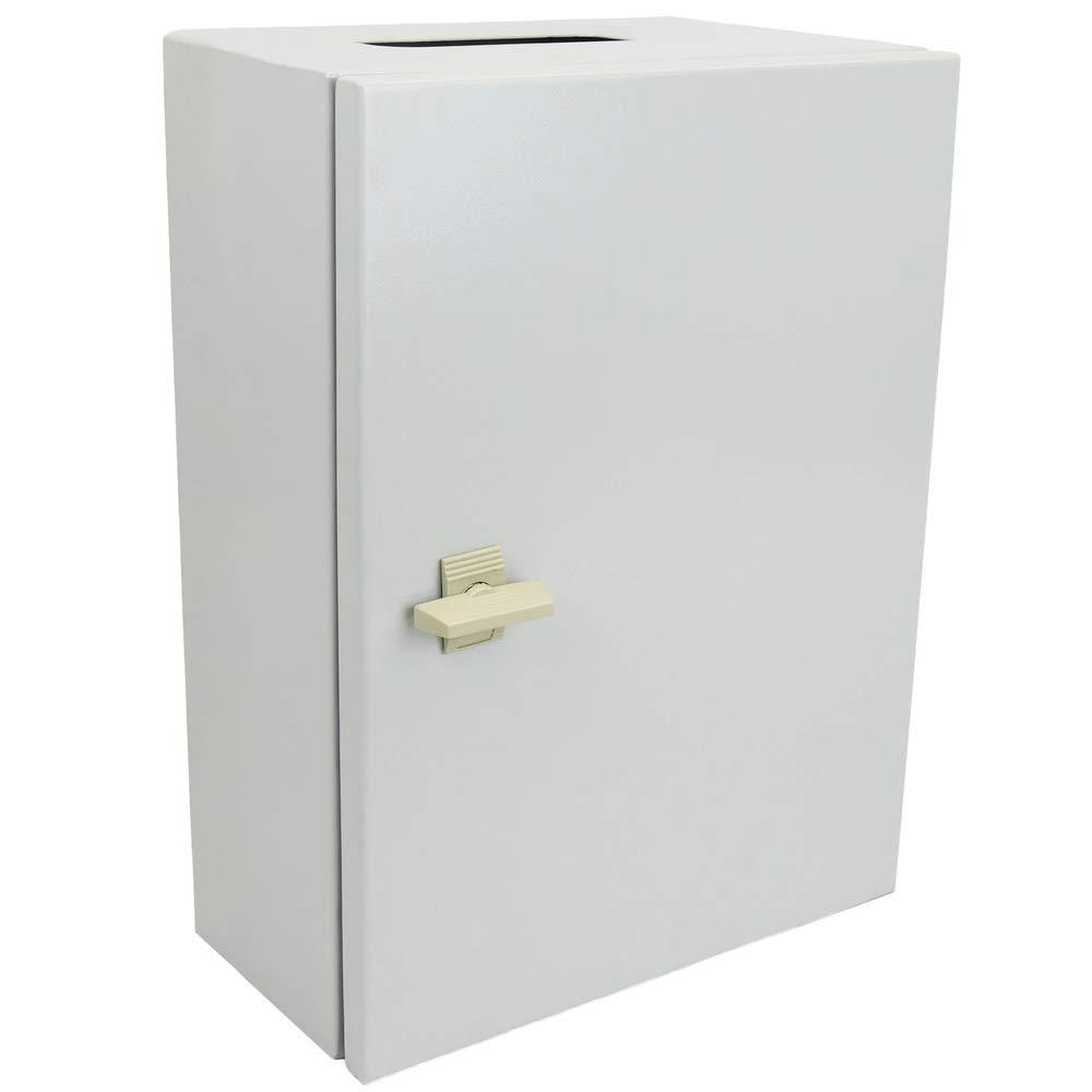 BeMatik - Caja de distribución eléctrica metálica con protección IP65 para fijación a Pared 400x300x150mm: Amazon.es: Electrónica