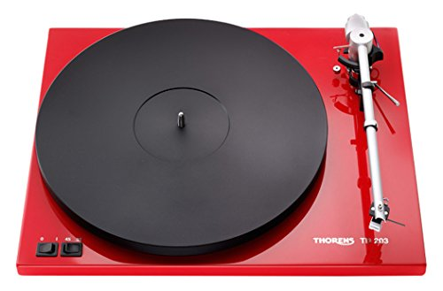 Thorens TD 203 - Tocadiscos (DC, Negro, Rojo, MDF, 400 x 320 x 92.6 mm)