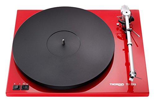 Thorens TD 203 - Tocadiscos (DC, Negro, Rojo, MDF,...