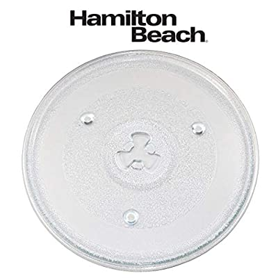 The Exact Replacement Part for Hamilton Beach 10 1/2 Inches Microwave Glass Tray/252100500497/HB-P90D23/HB-P90D23A/HBP90D23 - Dishwasher Safe