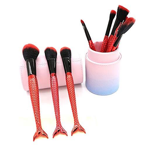 GBY Lot de 10 pinceaux de maquillage avec fond de teint poudre minéral visage avec support de maquillage, Fibre synthétique., 02, Free