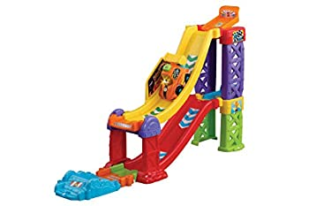 VTech Toot-Toot Drivers 3-in-1 Raceway Toy Car Racing Track for Boys and Girls Car Tracks for Kids with Lights and Sounds Musical Toy Race Track for Children Aged 1 to 5 Years
