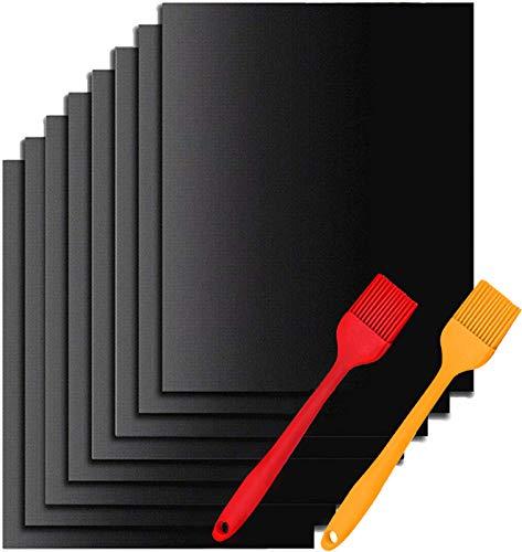 Nifogo BBQ Grillmatte, Antihaft Grillmatten, Backmatte für Holzkohle & Backen, Backpapier Wiederverwendbar, Dauerbackfolie für Backofen, Toll über Kohle, Gas und Weber Style Grills Grillzubehör 8PCS