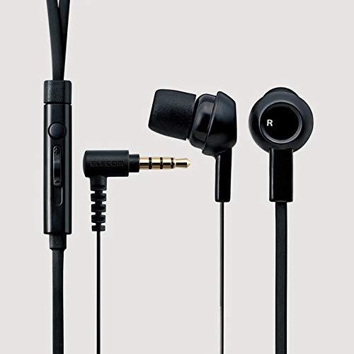 エレコムステレオイヤホンマイク付からまりを防ぐフラットケーブル1.2m(Y型)iPhone/スマホ対応3.5φ4極ブラックEHP-CS3520MBK