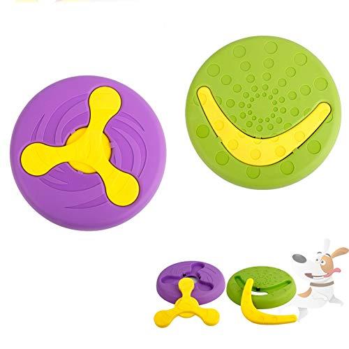 HyiFMY Frisbees & Tiring Toys para Perros, Perro Pet Volador de Juguete, Adecuado para Perros medianos, Grandes