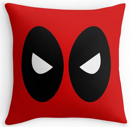 UK-Jewelry Deadpool Red Cool Comfort Throw Covers Bedding Sets Two Size Suitbale Pillowcase Cover 18x18 Inch