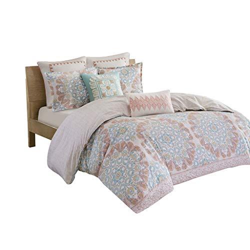 "Echo Design Simona 3 Piece Cotton Comforter Set, King/Cal King(110""x96""), Multi"