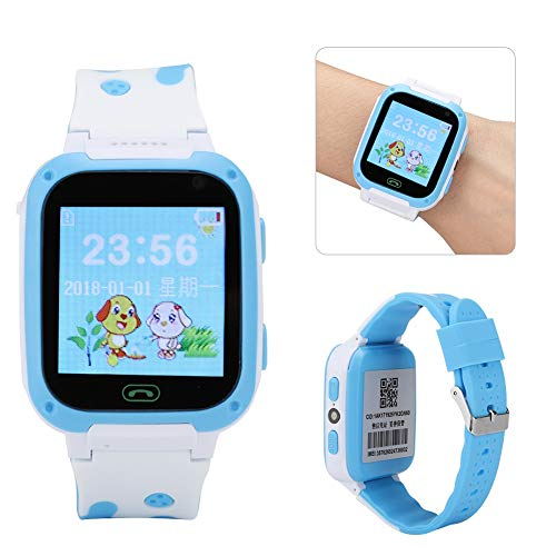 Pbzydu Bequemes GPS-Tracer-Armband, Kinderuhr, Mädchen rufen WeChat für Jungen an(Blue)