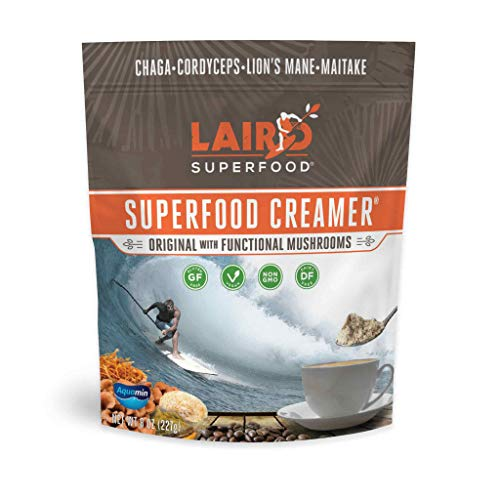 Laird Superfood Original Creamer with Functional Mushrooms - Nourishing and Energizing Non-Dairy Coffee Creamer, 8oz Bag