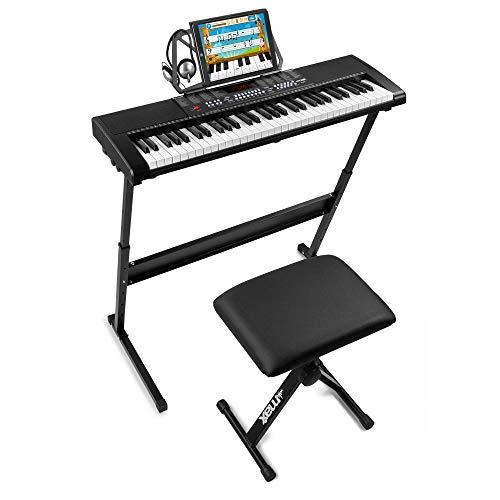 Max KB4 Premium - Teclado electrónico piano para principiantes, con soporte para...