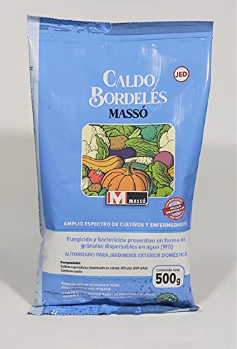 TodoCultivo Caldo Bordelés 500 grs. Tratamiento para 150 litros Fungicida y bactericida ecológico de Contacto con acción preventiva. Mildius, repilo bacterias.