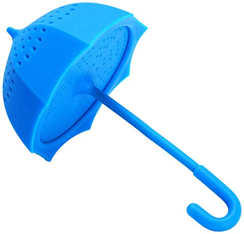 Monkey Business Umbrella Infusore tè, Silicone, Blu,