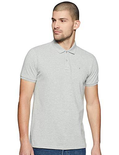 Scotch & Soda Herren NOS - Classic Garment Dyed Pique Polo Poloshirt, Grau (Grey Melange 970), Medium (Herstellergröße: M)