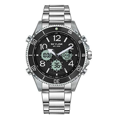 Relojes de Acero Inoxidable para Hombre, Cronógrafo, Relojes Hombre, Relojes de Pulsera, Diseñador Impermeable Reloj Hombre Banda de Acero, Analógicos Fecha de Pulsera Regalo Elegante.