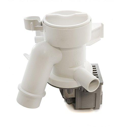 Daniplus 41018403 - Pompa di scarico, con bocchettone per pompa e filtro adatto per lavatrice Candy Hoover