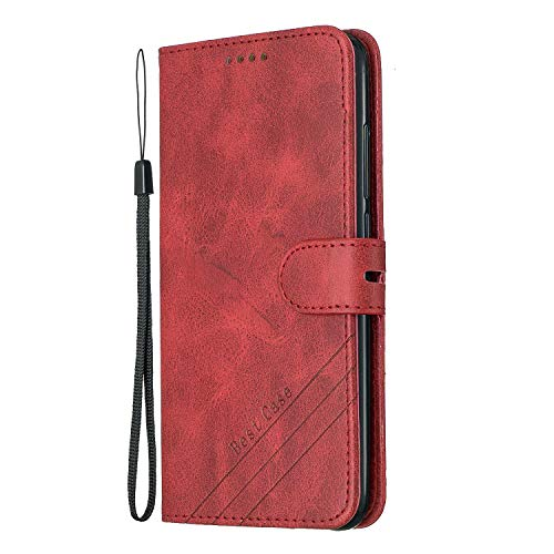Buy NEXCURIO Wallet Case for Xiaomi Redmi Note 6 Pro with Card Holder Side Pocket Kickstand, Shockproof Leather Flip Cover Case for Xiaomi Redmi Note 6Pro – NEHEX120562 Red