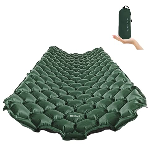 VOYAGGE Camping Sleep Pad, Ultimate for Camping, Backpacking, Hiking, Adventure, Compact, Comfortable and Lightweight Air Mattress (Dark Green)
