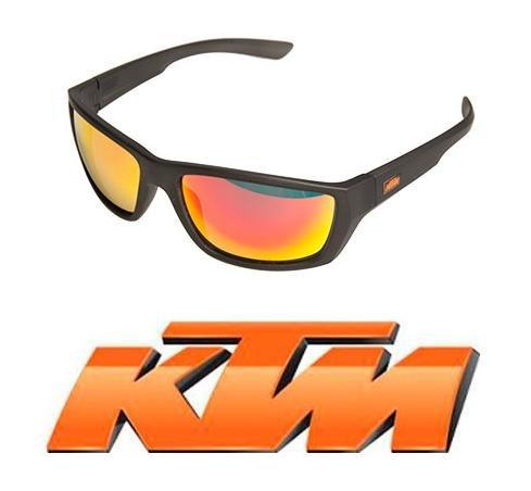 KTM Brille Fahrrad-Fahrrad Polarisiert Mod.Factory aus Polycarbonat, Glasfarbe wählen (Orange)