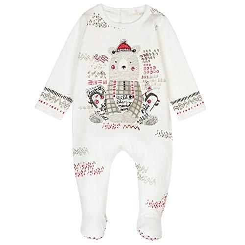 Boboli Unisex Interlock Play Suit for Baby Strampler, Beige (Blanco Quimico 1111), 74