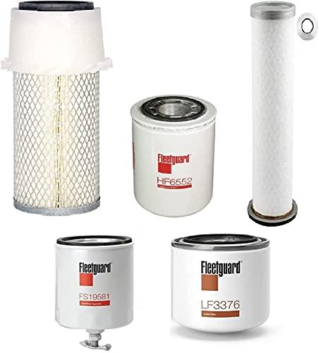 Bobcat T140 T180 T190 W/Kubota V2203 Eng. Filters Kit (All Fleetguard)