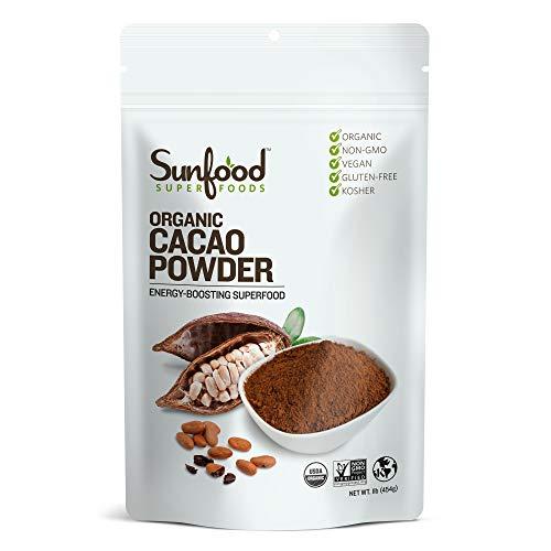 Sunfood Superfoods Cacao Powder - Pure Raw Organic. 1 lb Bag