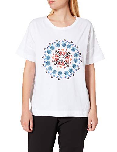 Desigual T-Shirt Oversize Galactic Camiseta, Blanco, M para Mujer
