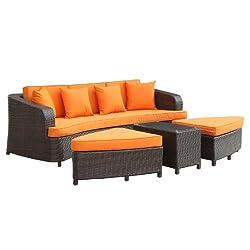 Modern Outdoor Sofa Set Orange
