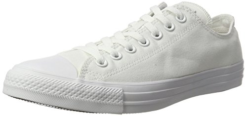 Converse Chuck Taylor All Star, Unisex - Erwachsene Sneaker, Weiß (Monocrom), 42.5 EU