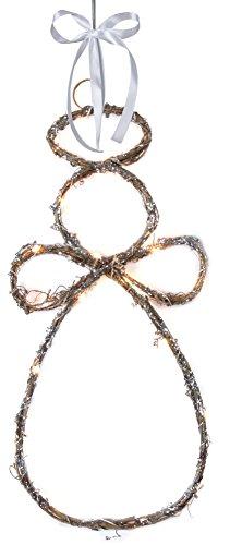 Star 700-17 Ange décoratif à DEL Willow Angel, 1.26 W, Brun, 40 x 20 x 2