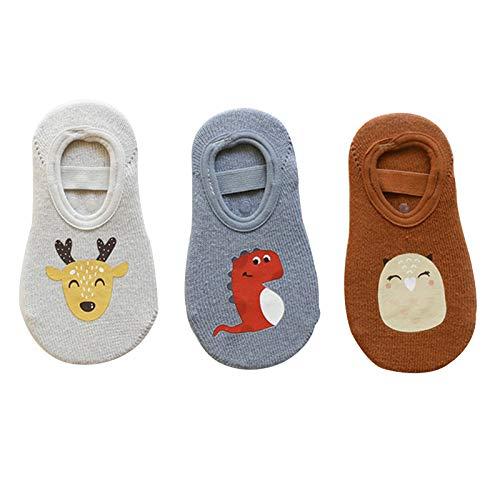 Calcetines Calcetines de la tripulación antideslizantes para niños pequeños, calcetines para bebés de primavera y otoño, calcetines para el hogar de niños, suaves y absorbentes de humedad, 0-5 años, n