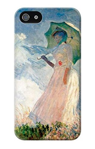 R0998 Claude Monet Woman with a Parasol Case Cover For IPHONE 5 5S SE