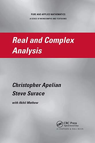Real and Complex Analysis (Pure and Applied Mathematics, Band 294)