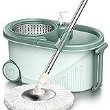 GONGFF 360 Spin Mop and Bucket con Wringer Set Kitchen Mop Bucket Set Acero Inoxidable Spin Mop para la Limpieza del Piso de la Cocina del hogar